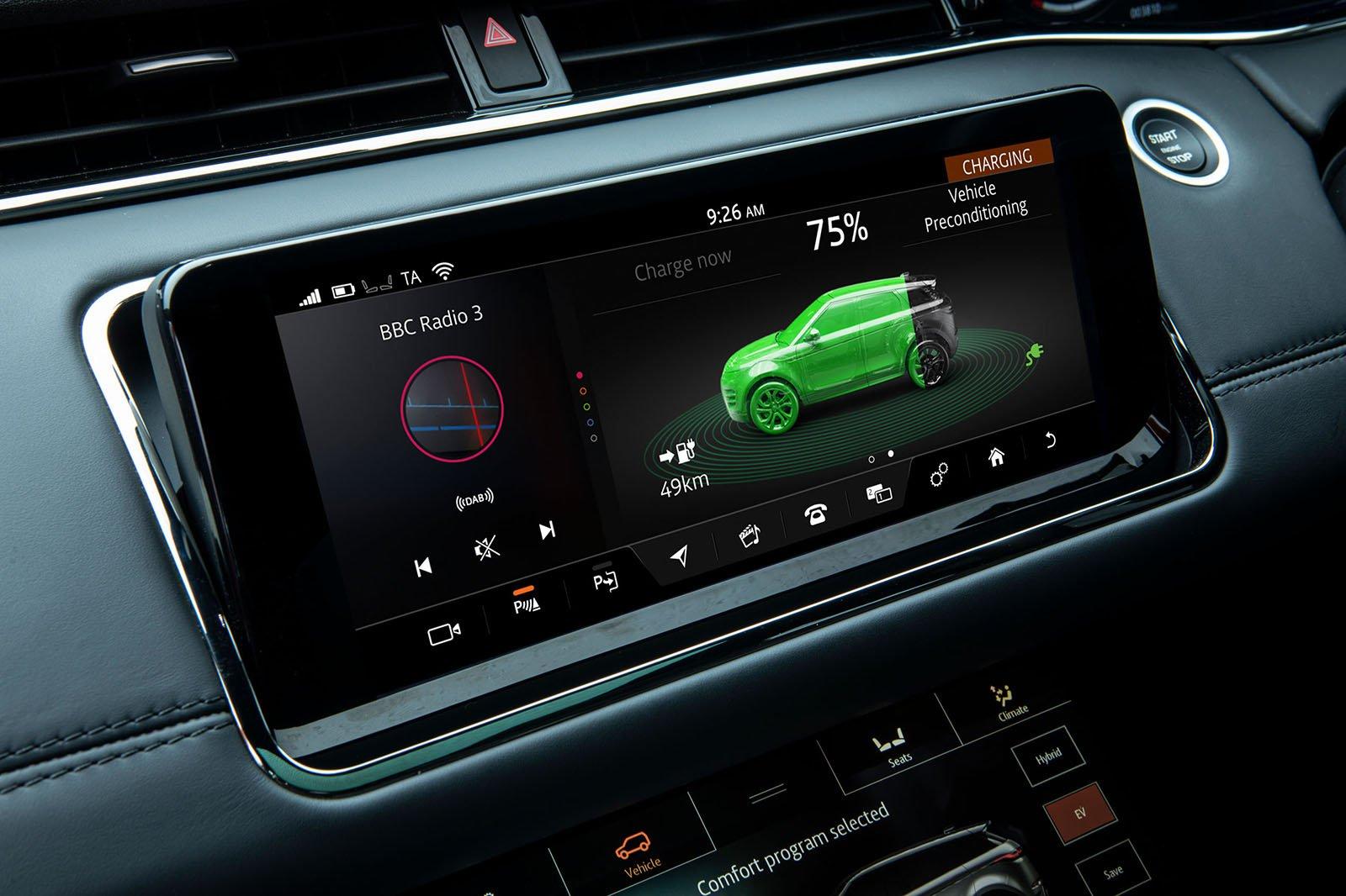 2020 Range Rover Evoque P300e interior
