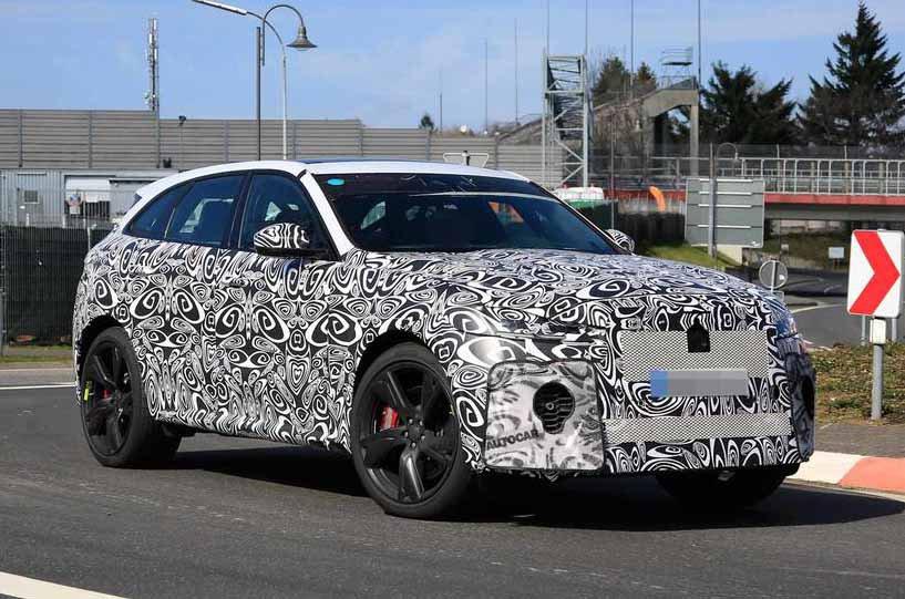 Facelifted Jaguar F-Pace prototype