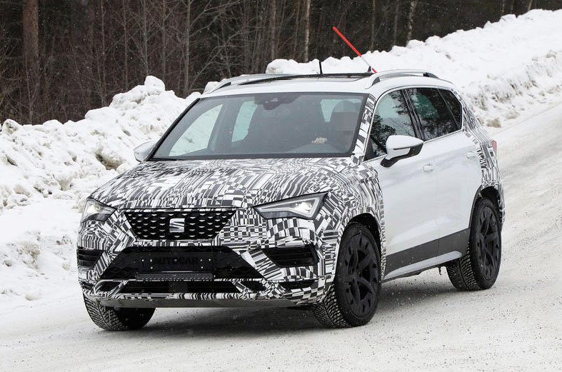 Facelifted Seat Ateca prototype