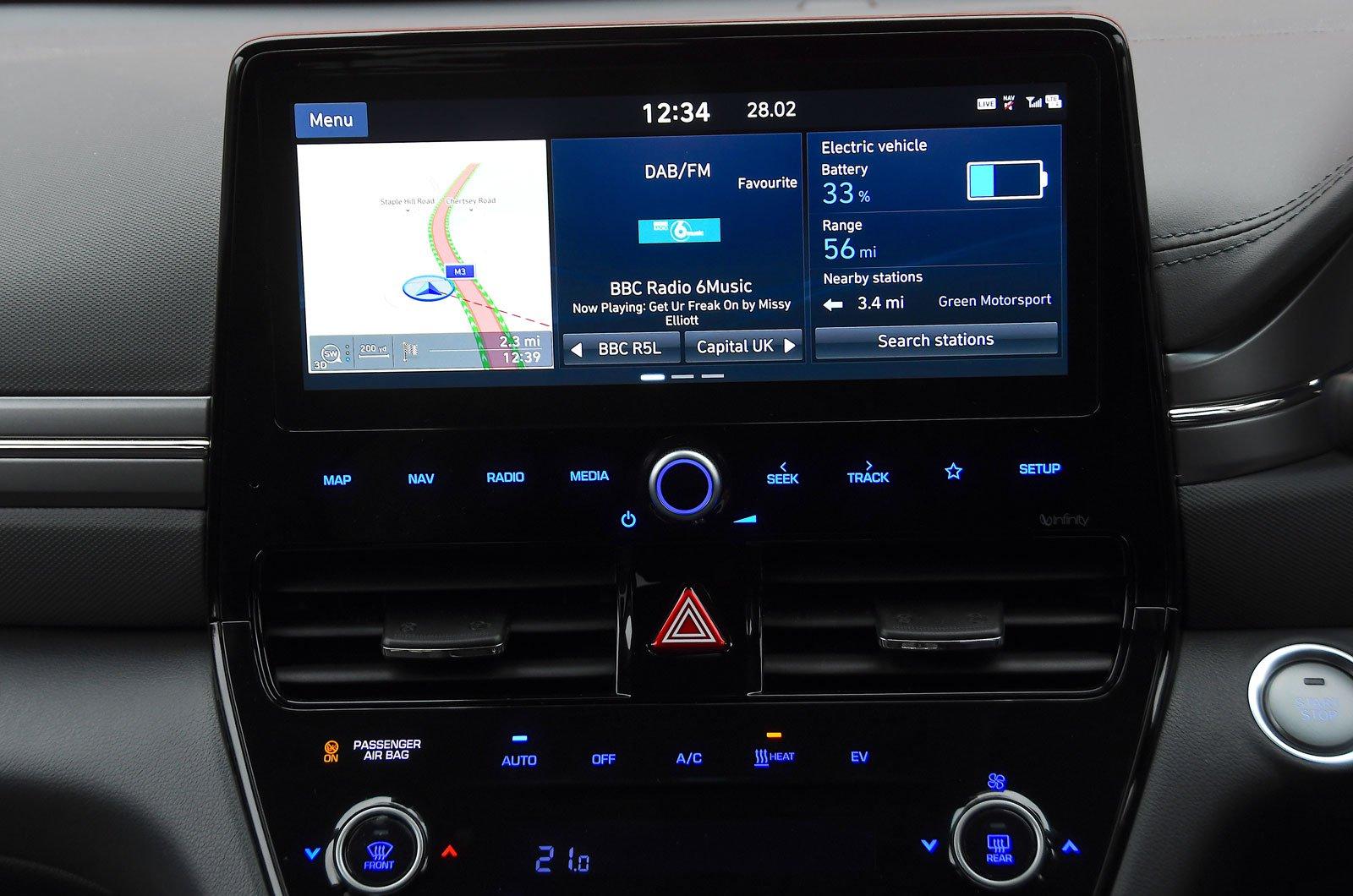 Infotainment test Hyundai Ioniq