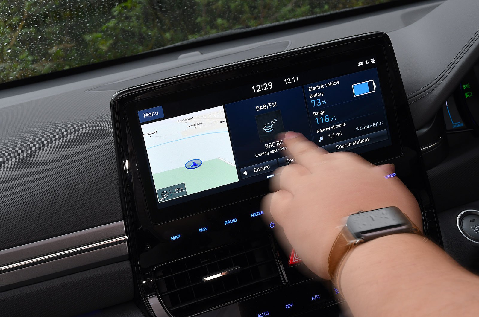 Hyundai Ioniq Electric infotainment touchscreen