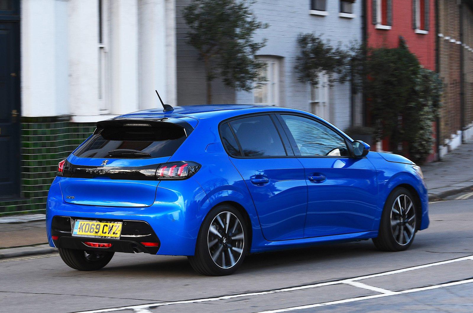 Peugeot 208 rear - blue 69-plate car