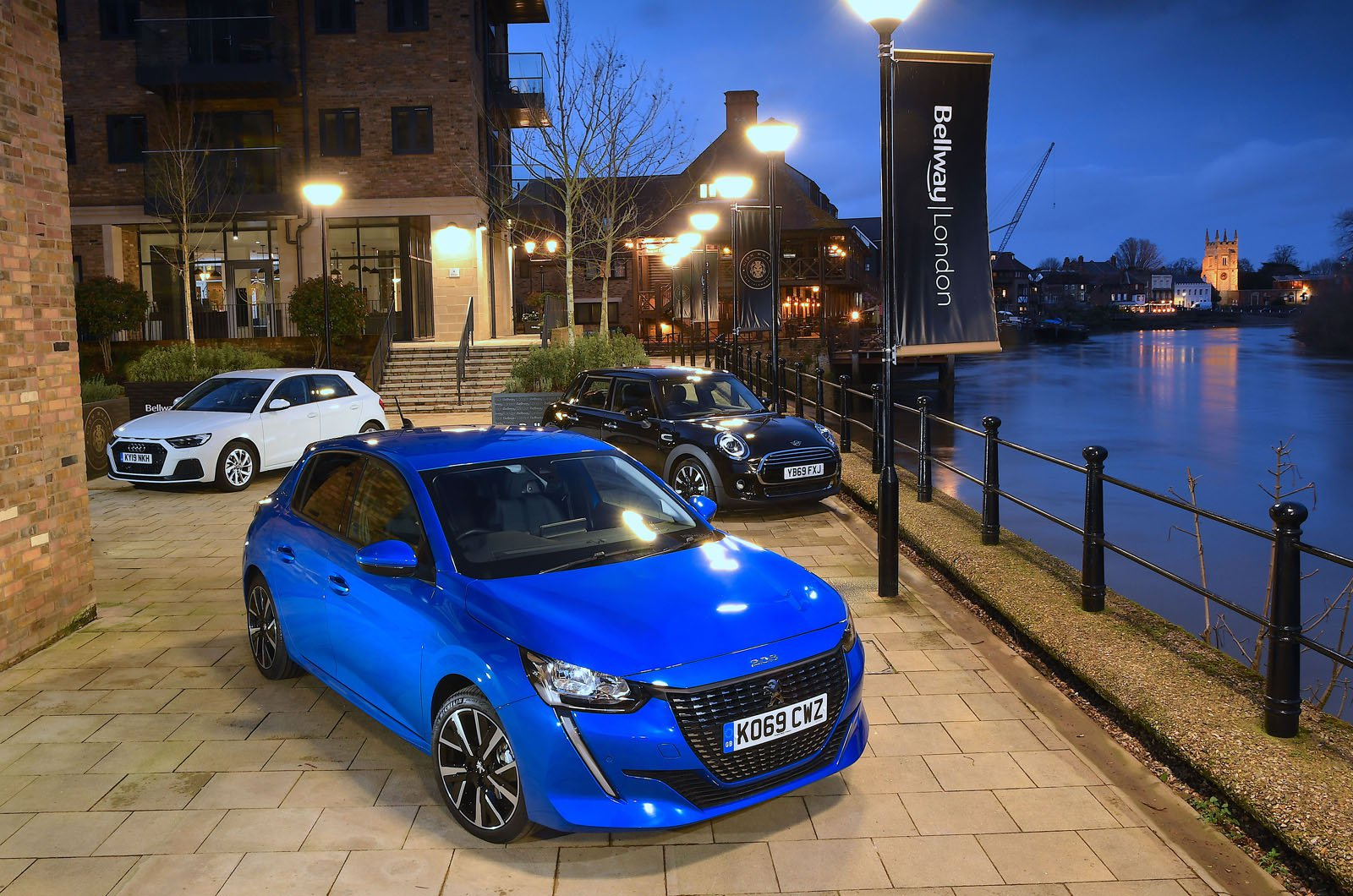 Peugeot 208 with Audi A1 and Mini hatchback