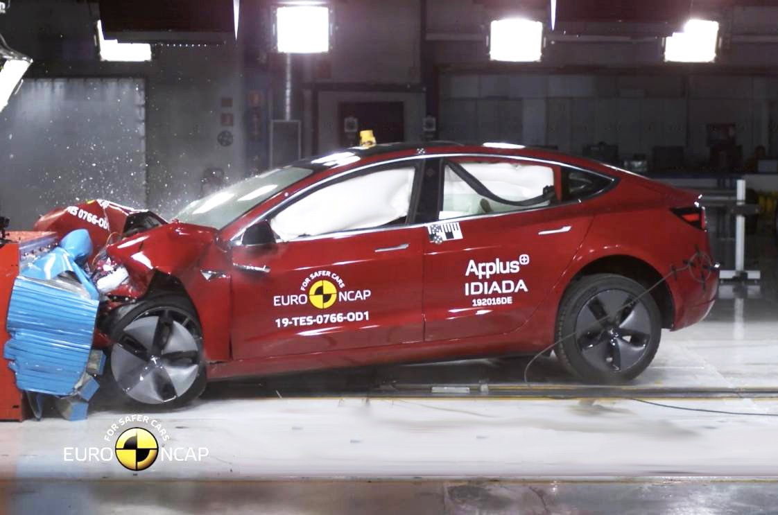 Tesla Model 3 Euro NCAP crash test
