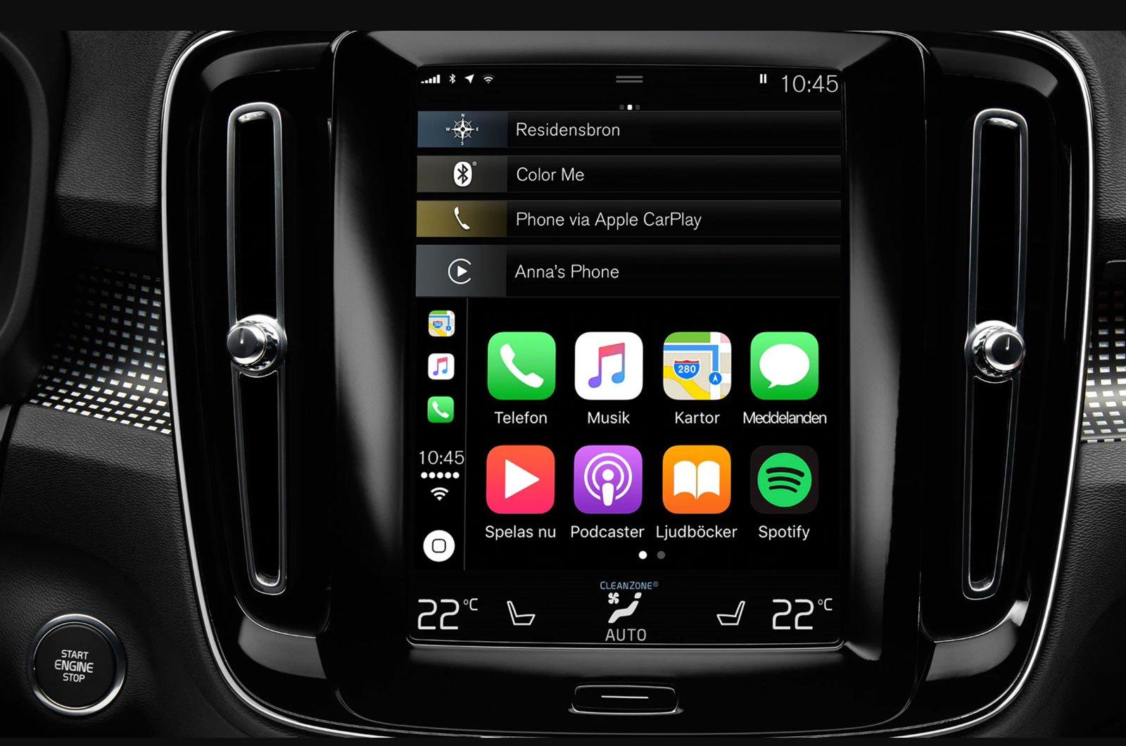 Volvo XC40 smartphone mirroring
