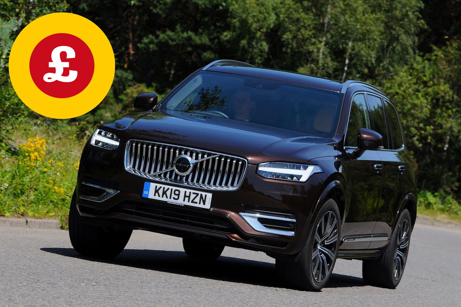 Volvo XC90 with Target Price logo