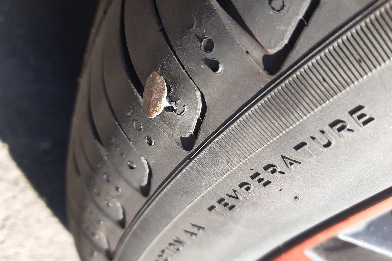 Volkswagen T-Cross long termer with nail in tyre