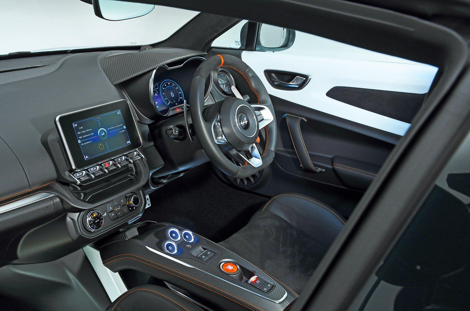 Alpine A110 S dashboard - private plate