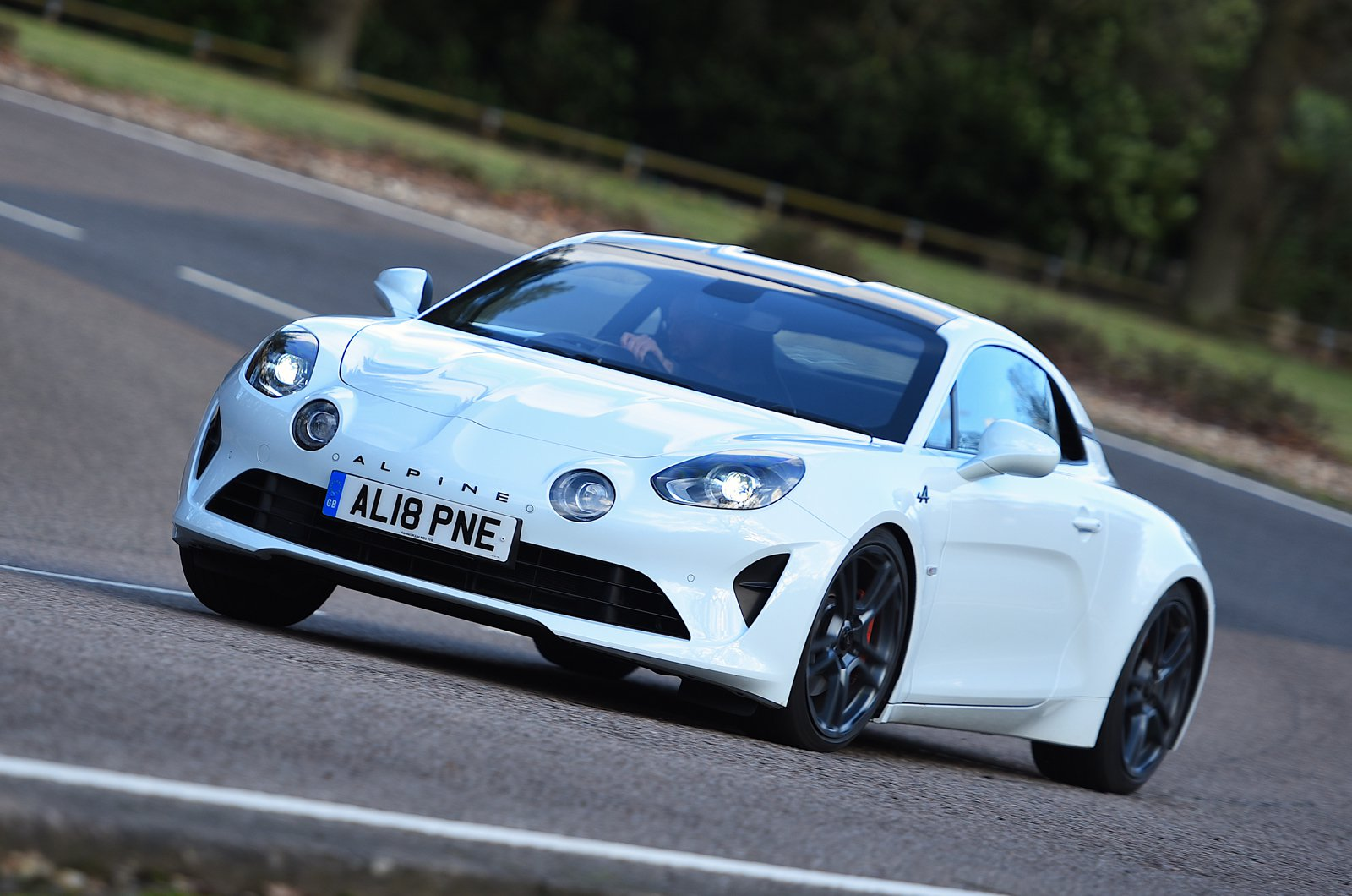 Alpine A110 S front cornering - private plate