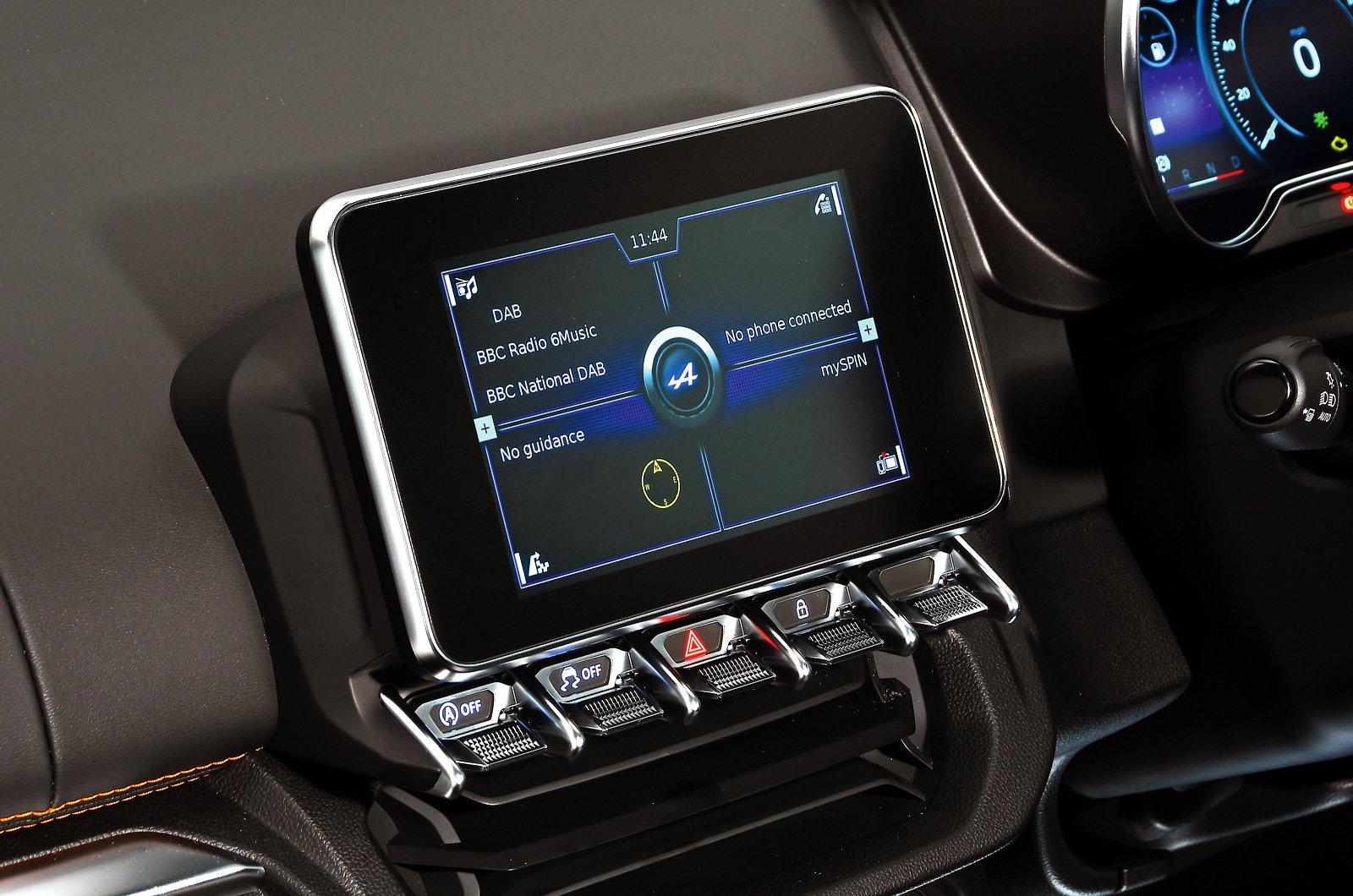 Alpine A110 S touchscreen - private plate