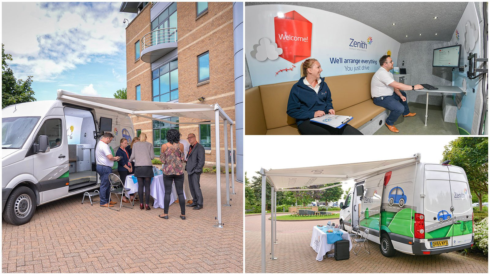 One business converted a Volkswagen Crafter into a mobile events and meeting space