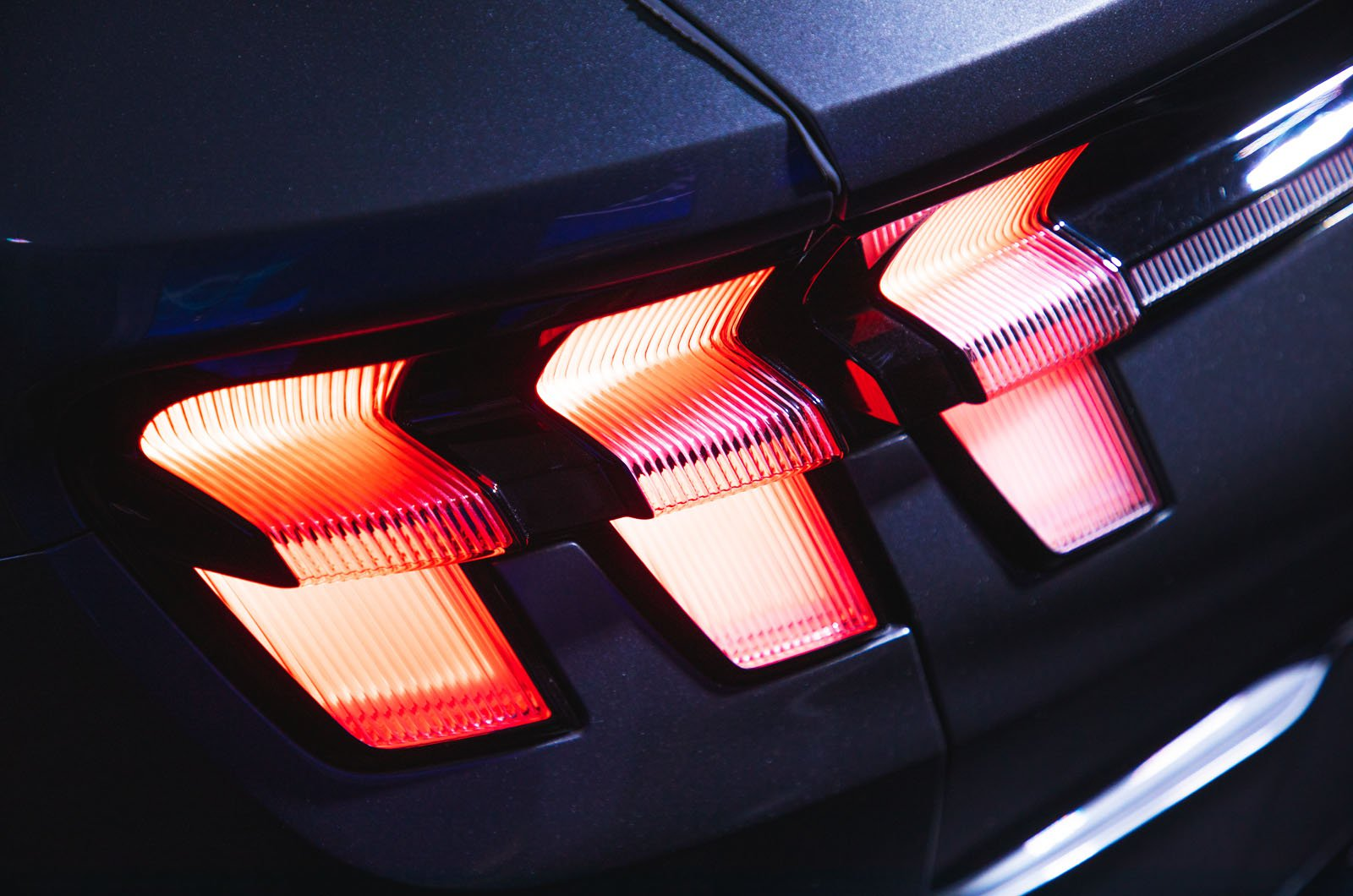 Ford Mustang Mach-E reader test team - rear lights