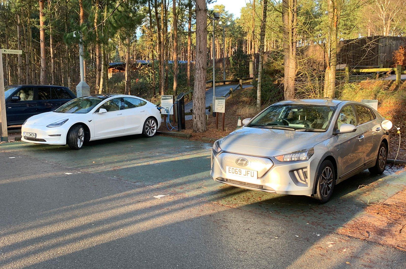 Hyundai Ioniq Electric charging up