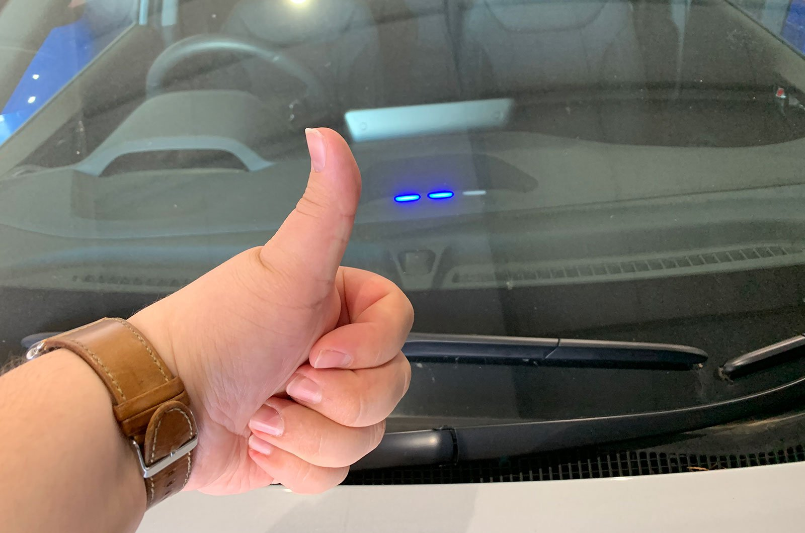 Hyundai Ioniq Electric charging lights
