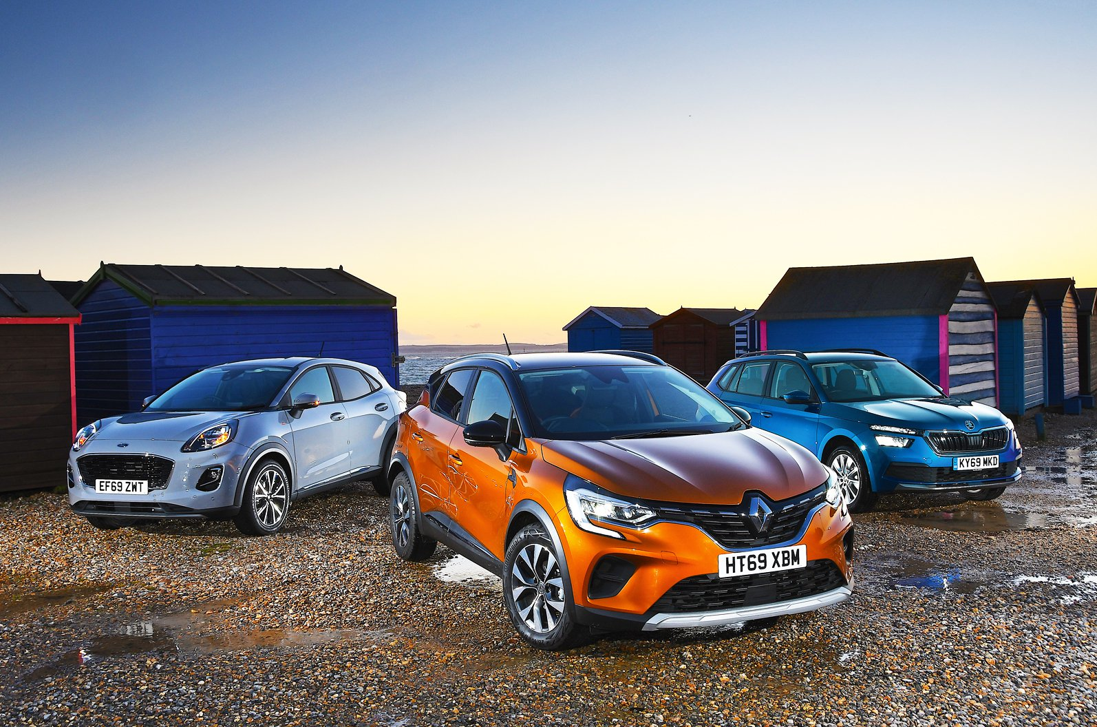 New Renault Captur vs Ford Puma vs Skoda Kamiq