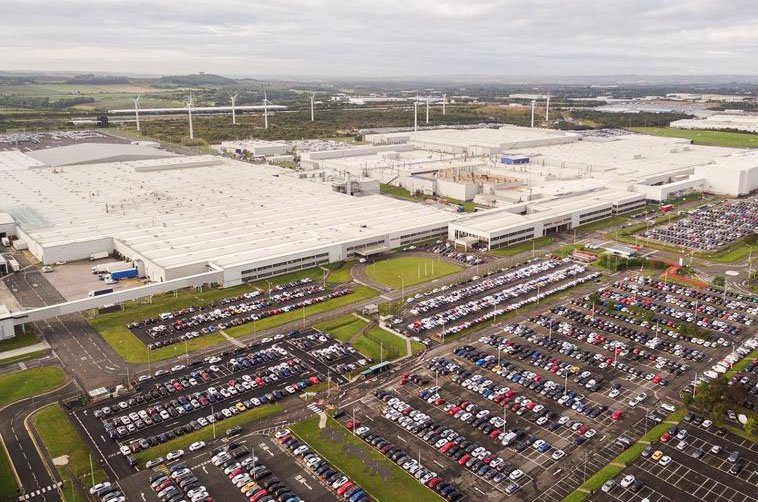 Nissan's Sunderland factory from above