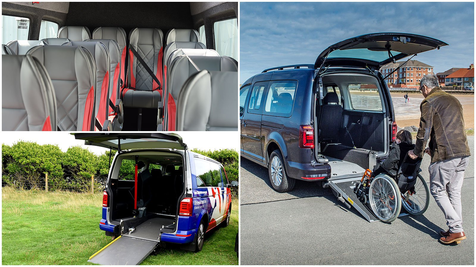 Volkswagen passenger carriers of all sizes can be converted for disable passengers or VIPs