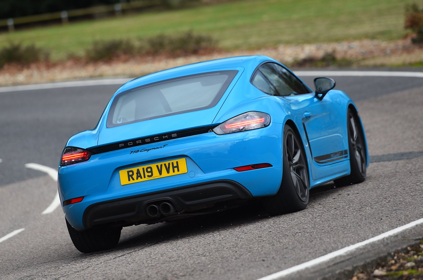 Porsche 718 Cayman T rear cornering - 19-plate cars