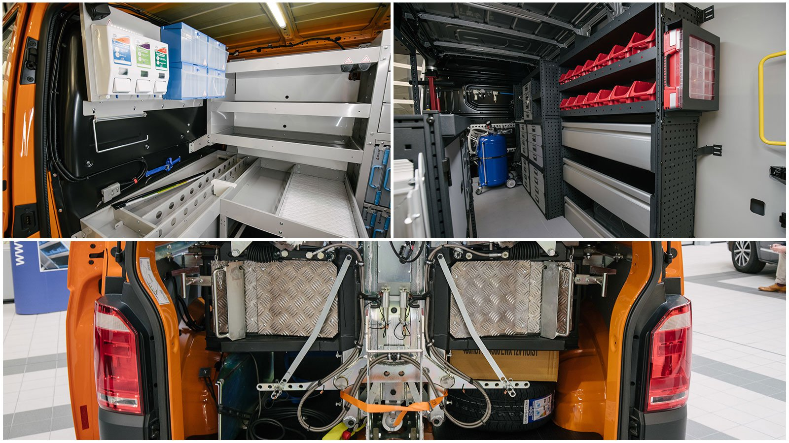 The interior of Volkswagen panel vans can easily be configured into a mobile workshop