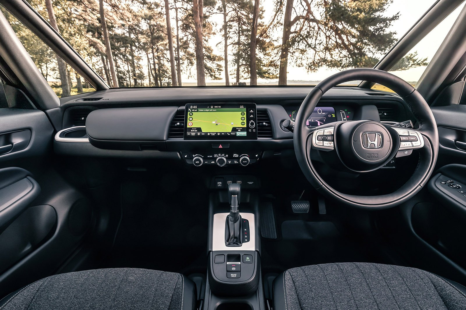 Honda Jazz 2020 RHD dashboard, wide angle