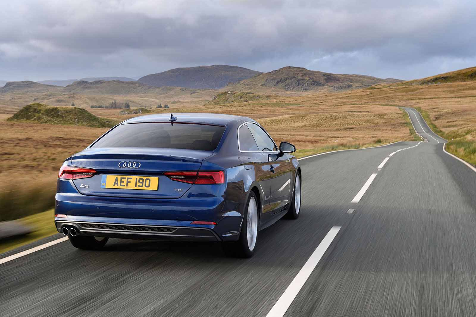 Audi A5 Coupe RHD rear tracking