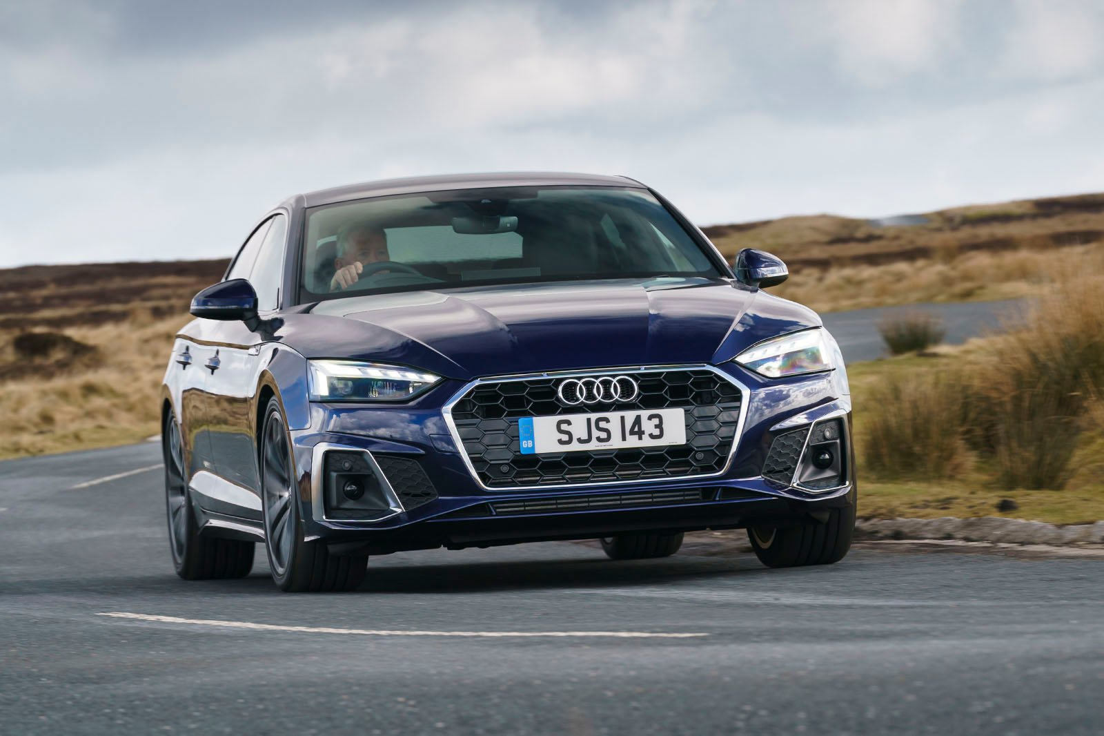 Audi A5 Coupe 2020 RHD front right tracking