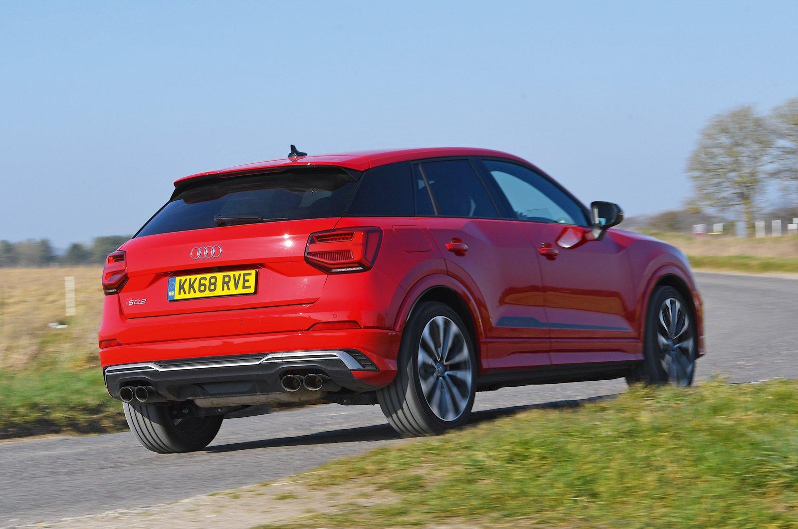 Audi SQ2 rear cornering