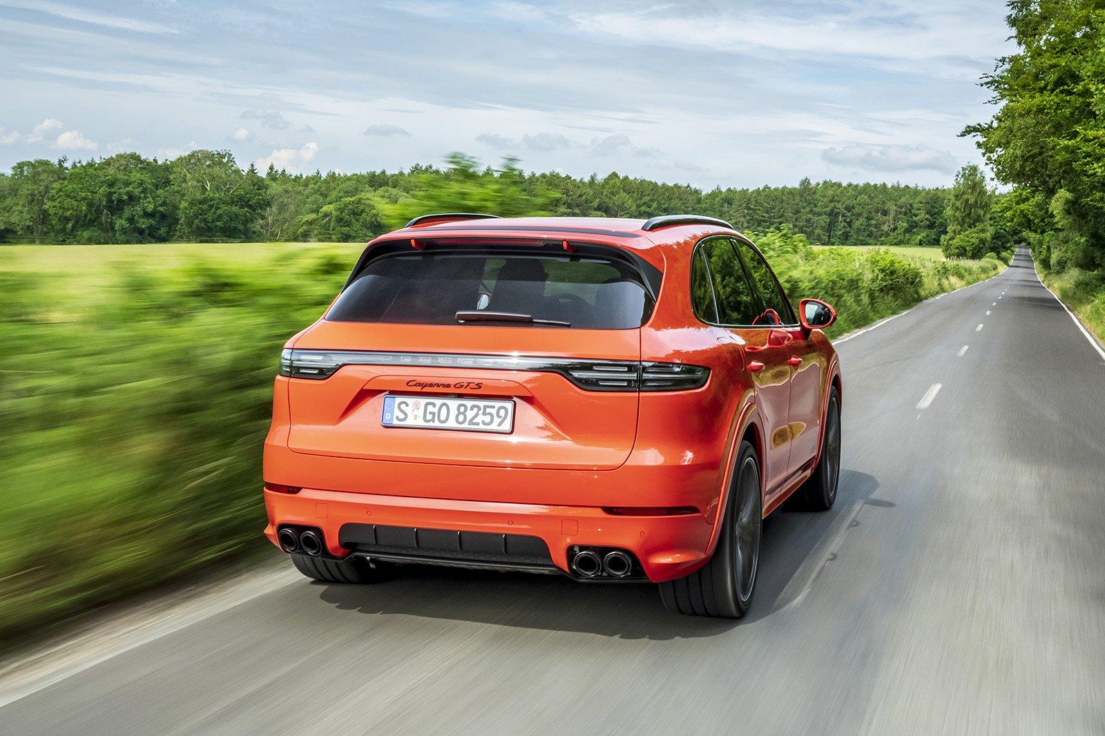 2020 Porsche Cayenne GTS rear 3/4