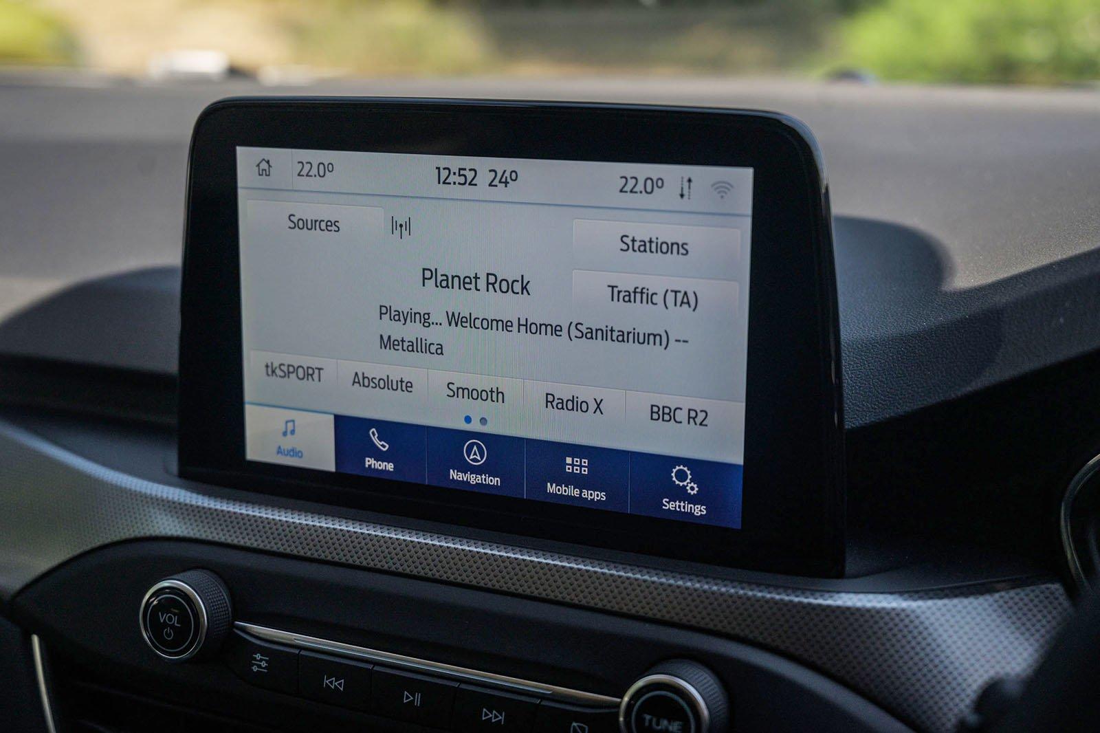 Ford Focus 2021 RHD infotainment
