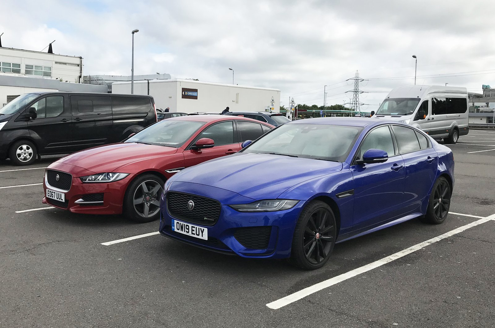 LT Jaguar XE with old XE - front