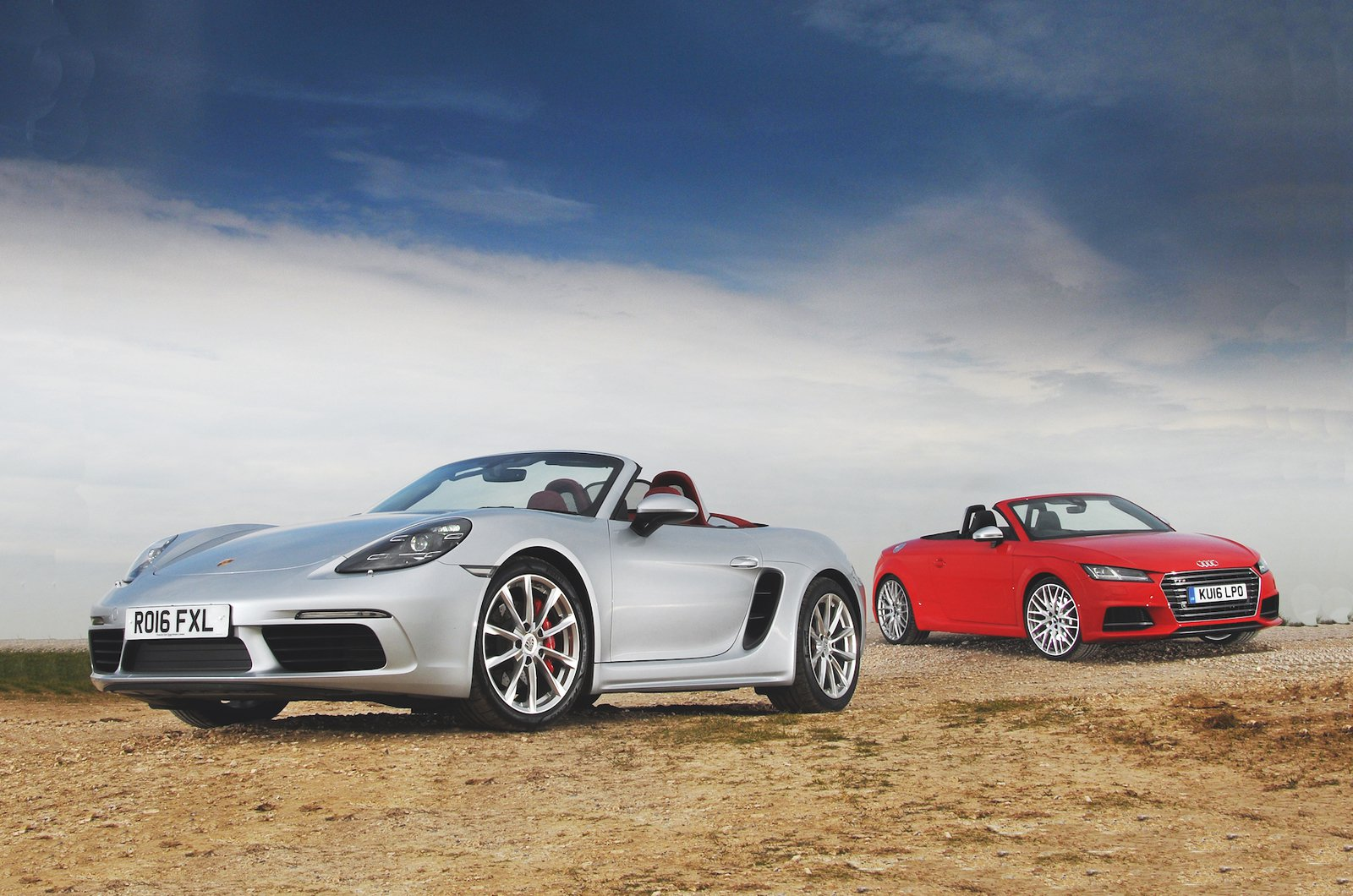 Porsche 718 Boxster and Audi TTS Roadster