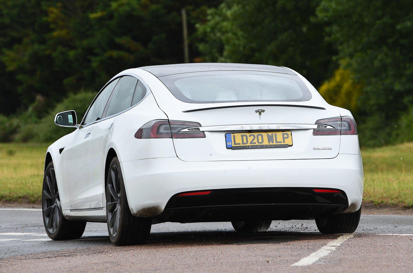2020 Tesla Model S rear cornering