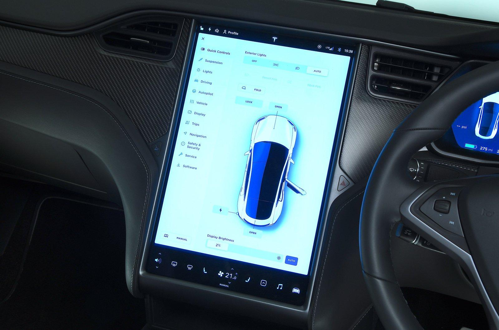 2020 Tesla Model S touchscreen