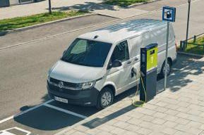 VW e-Crafter parked charging