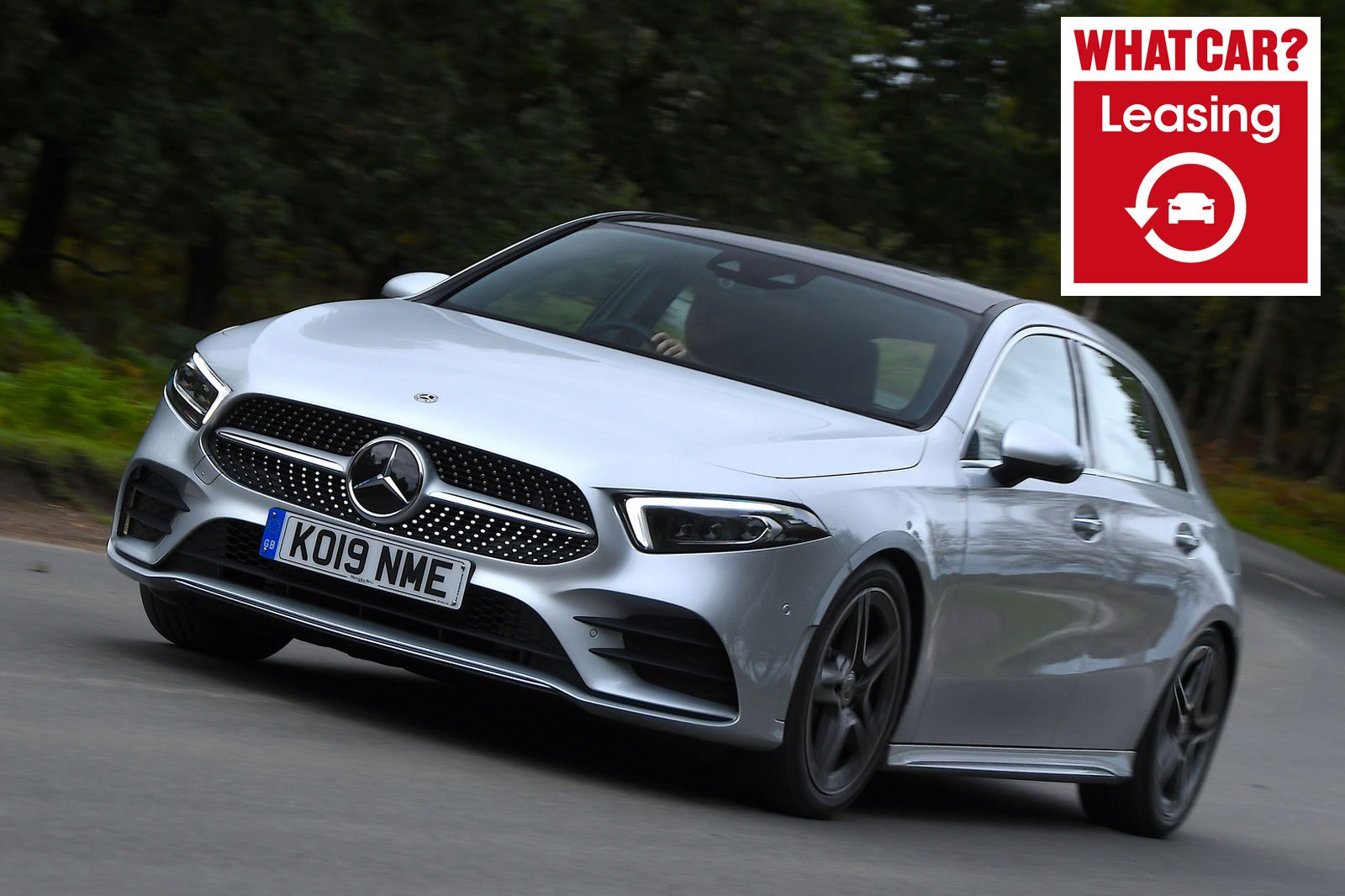 Mercedes A-Class with What Car? Leasing logo