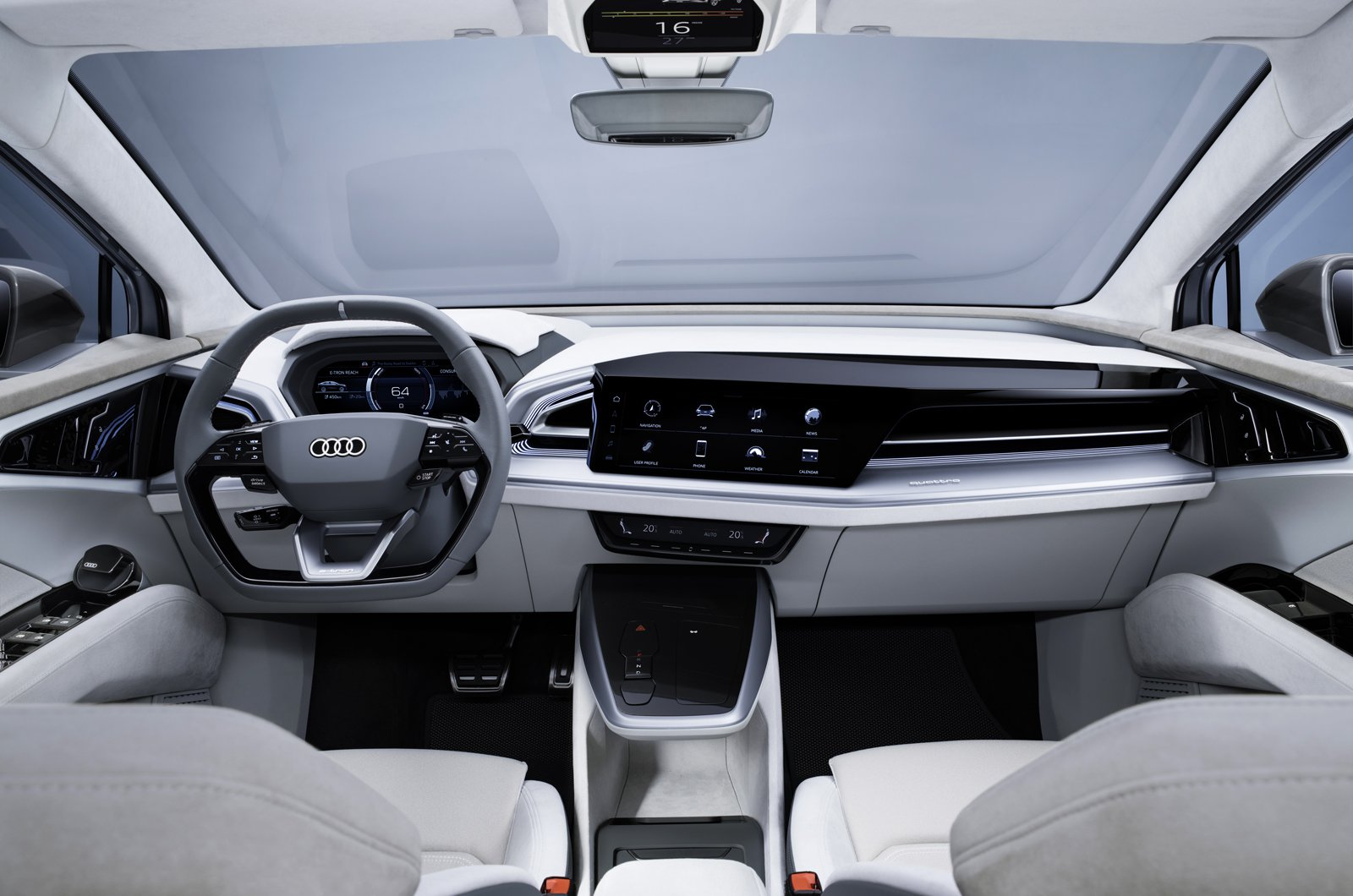 Audi Q4 Sportback e-tron prototype dashboard