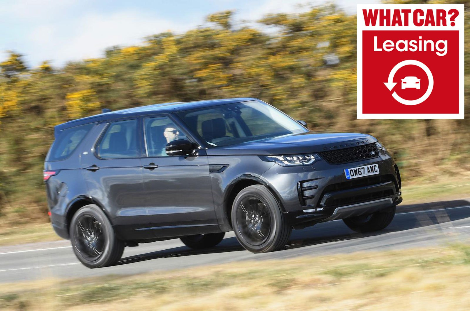 Land Rover Discovery with What Car? Leasing logo