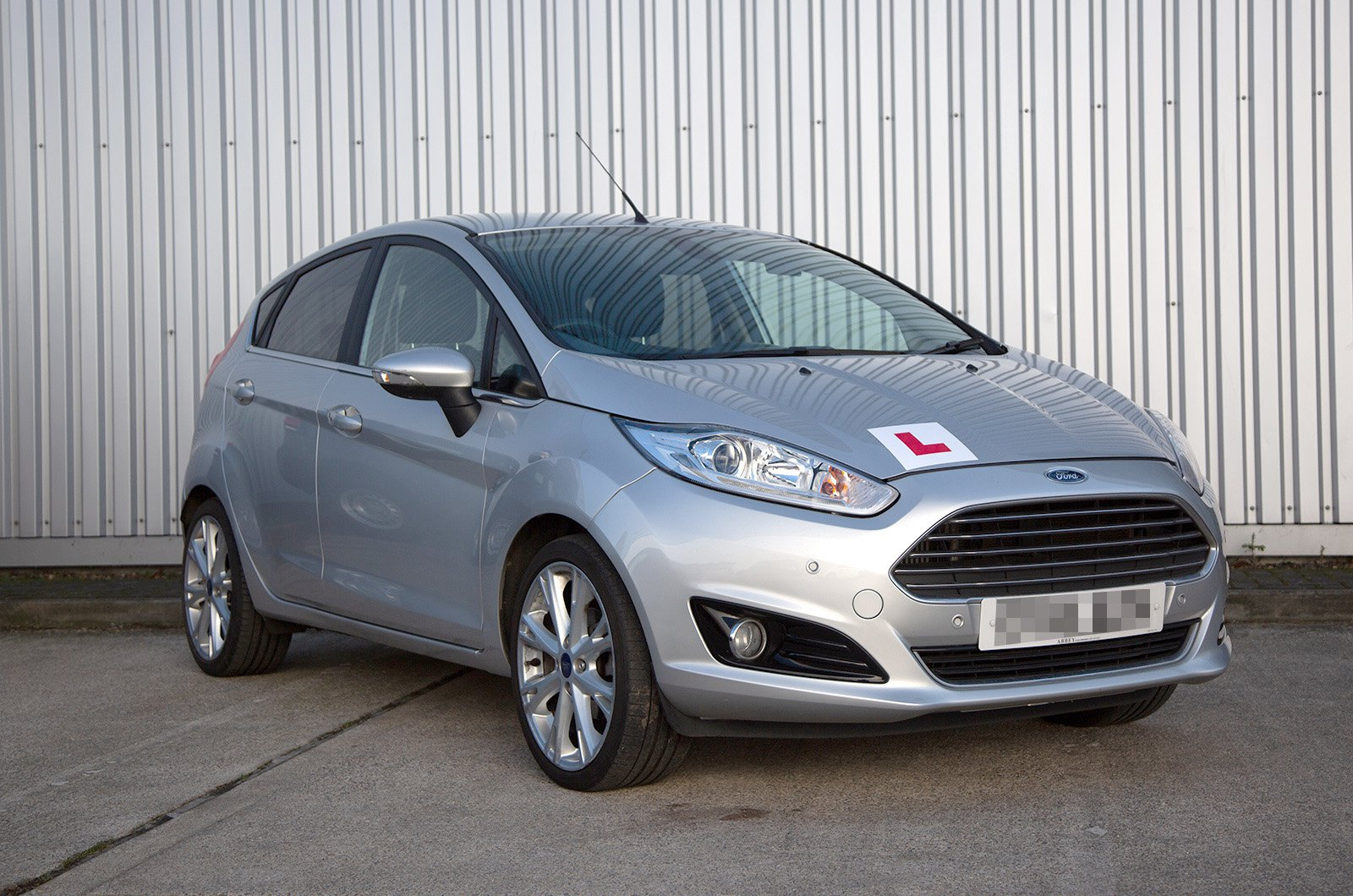 Ford Fiesta with 'L' plates