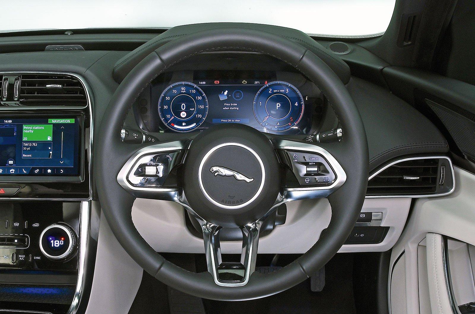 Jaguar XE steering wheel