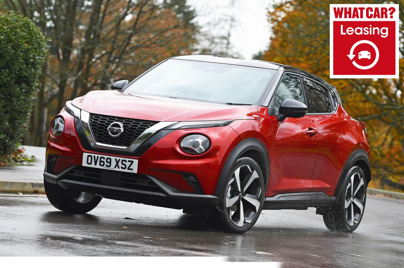 Nissan Juke with What Car? Leasing logo