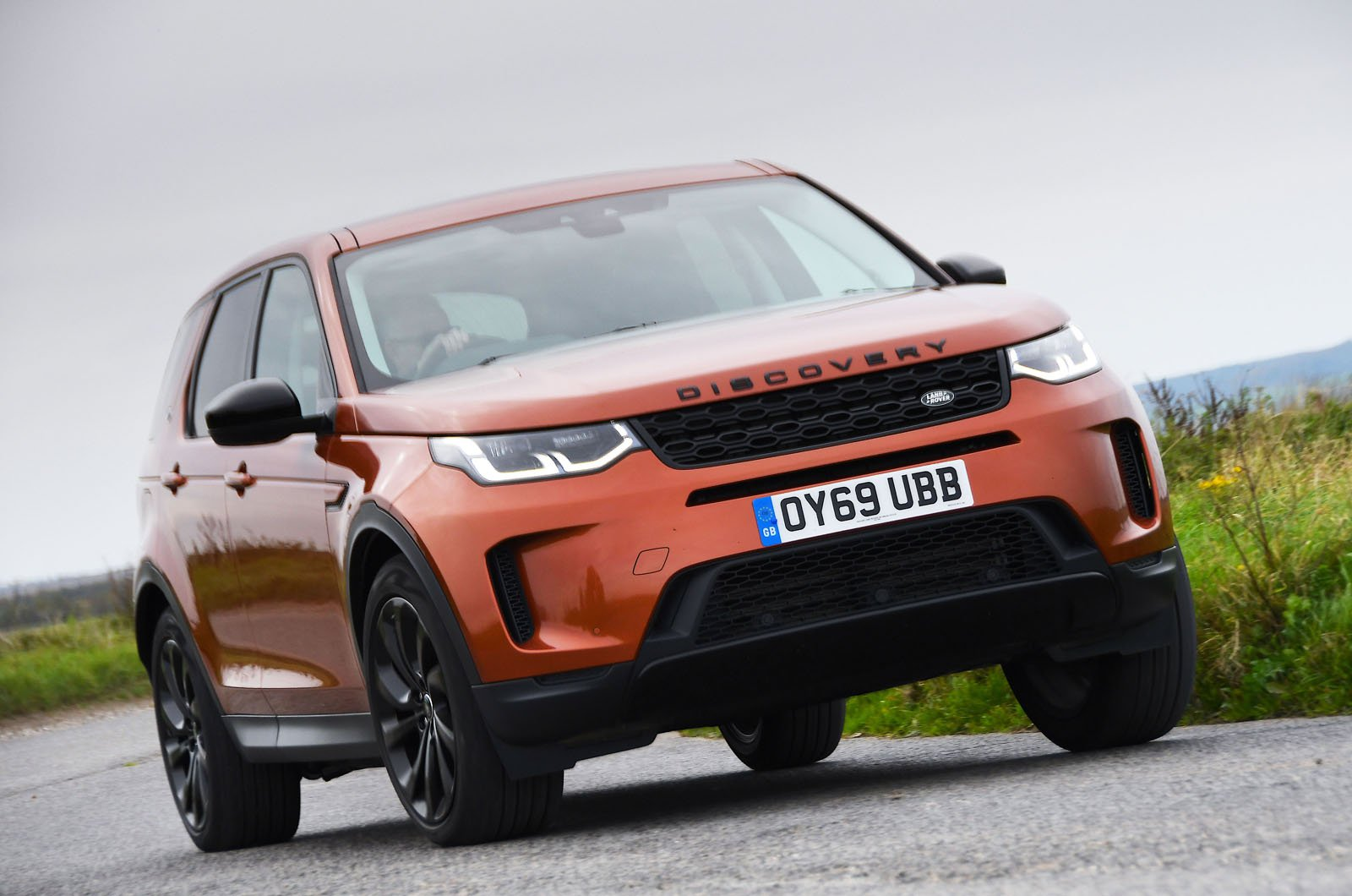 Land Rover Discover Sport front cornering - 69-plate car