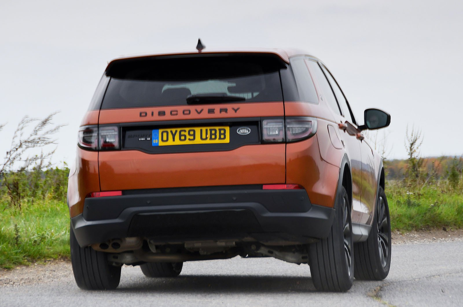 Land Rover Discover Sport rear cornering - 69-plate car