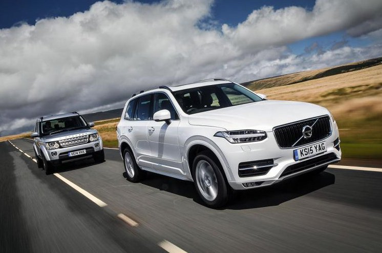 Land Rover Discovery 4 and Volvo XC90