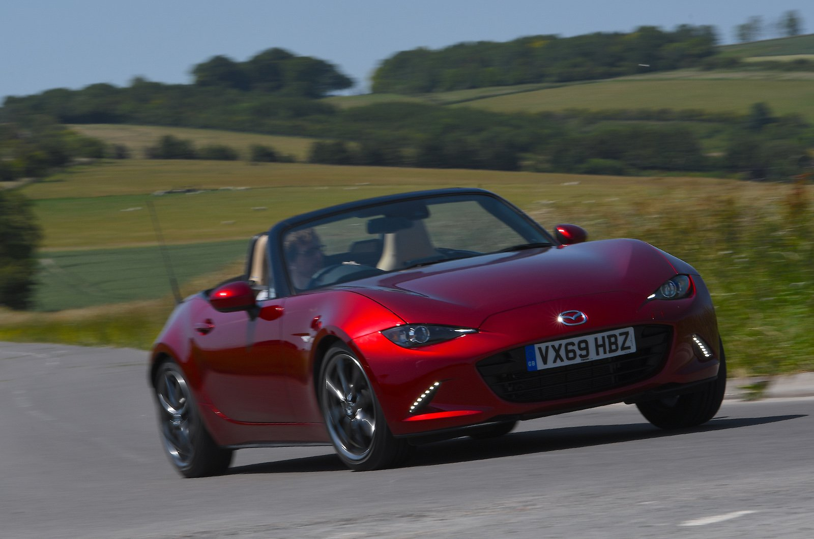 Used Mazda MX-5 long-term front 3/4 cornering