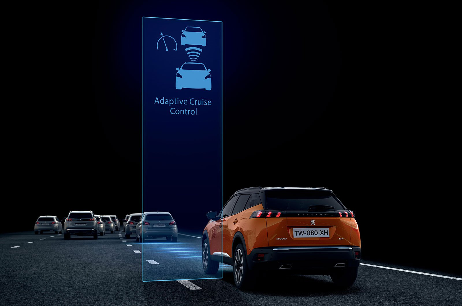 Peugeot 2008 with adaptive cruise control