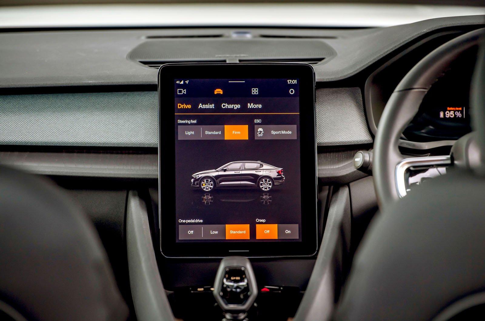 Polestar 2 touchscreen - 2020 car
