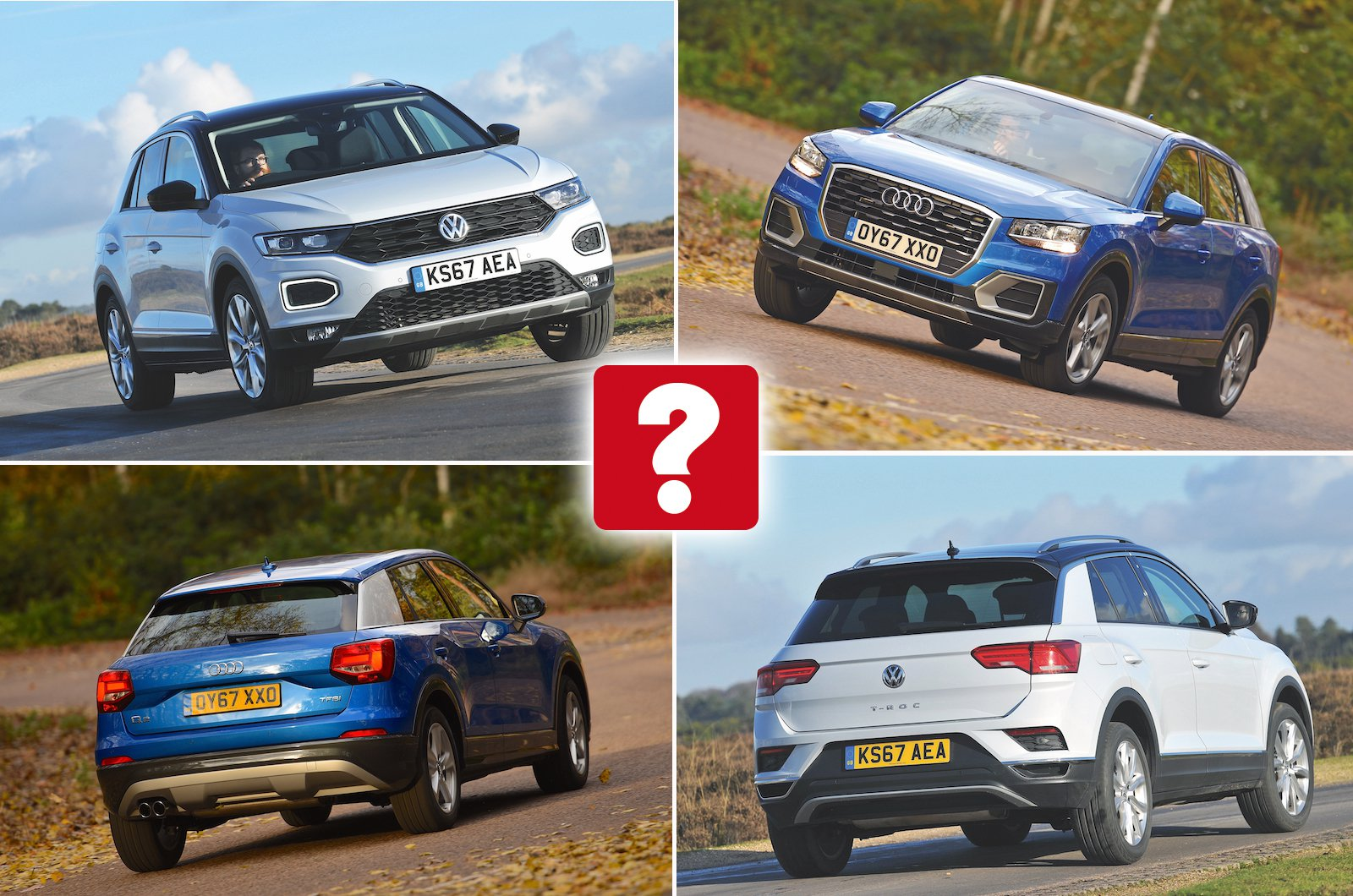 Audi Q2 vs VW T-Roc