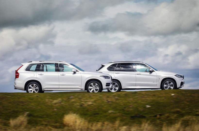 Volvo XC90 and BMW X5