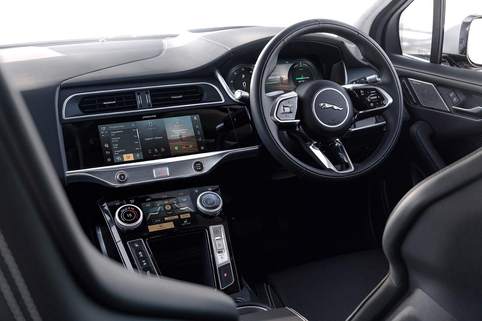 LUXURY SUV: Jaguar I-Pace EV400 S dashboard
