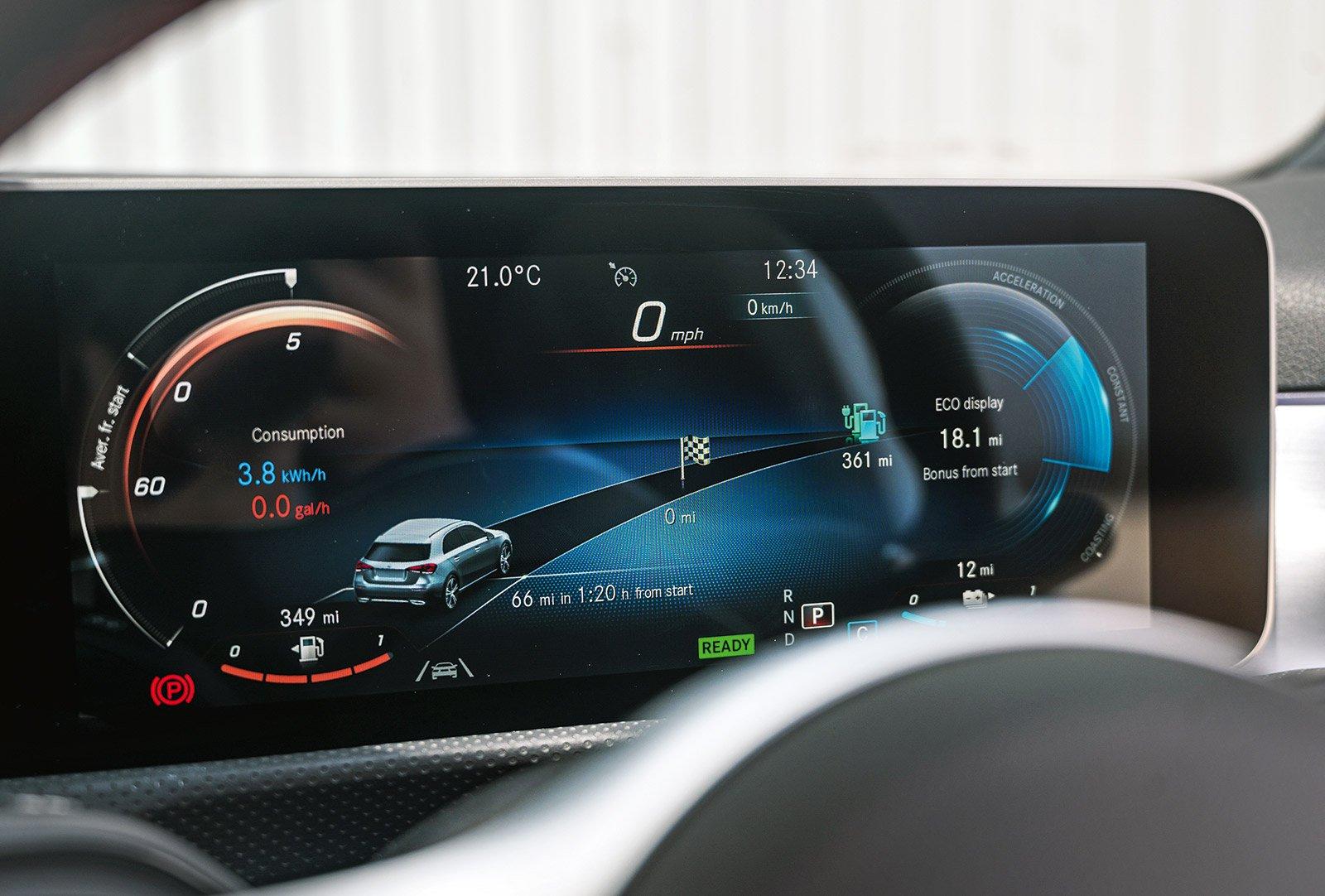 FAMILY CAR: Mercedes A-Class A250e AMG Line dashboard